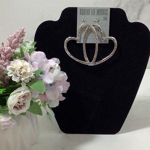 NWT- Robert Lee Morris Heart Earrings